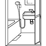 浴室リフォームのドア